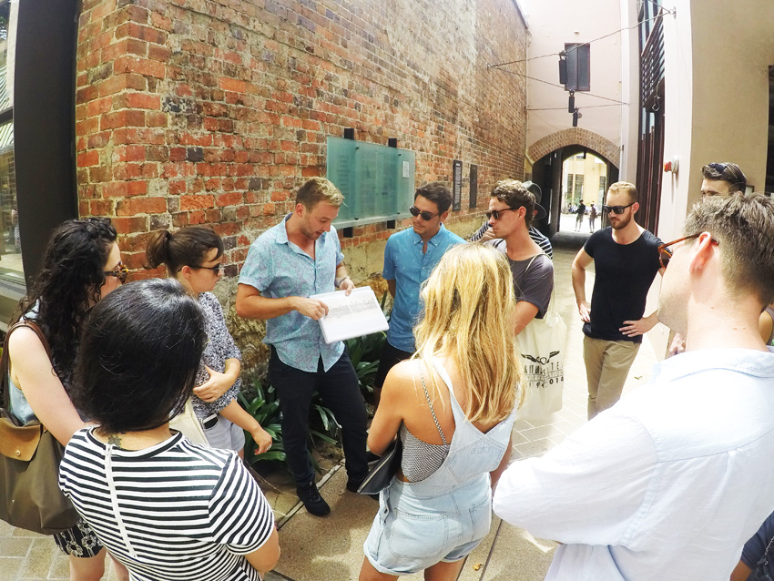 Photo of a group on a Walking Tour Sydney