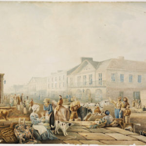 Painting of George St Sydney, 1842