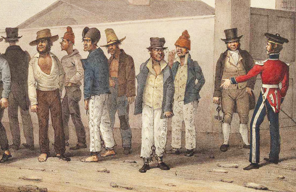 convicts at barracks