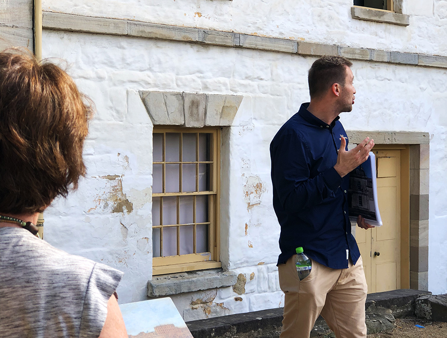 Macquarie and Greenway walking tour at Cadman's Cottage